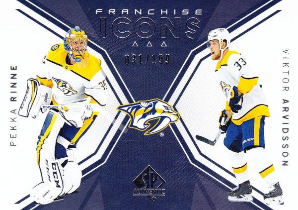 insert karta RINNE/ARVIDSSON 18-19 SP Authentic Franchise Icons /199
