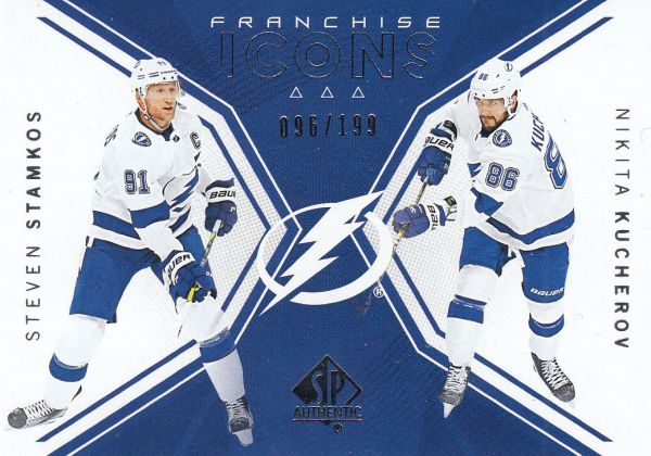 insert karta STAMKOS/KUCHEROV 18-19 SP Authentic Franchiese Icons /199