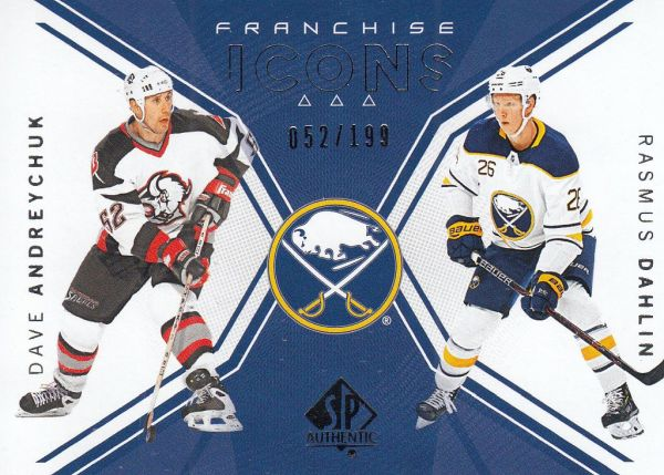 insert RC karta ANDREYCHUK/DAHLIN 18-19 SP Authentic Franchiese Icons /199
