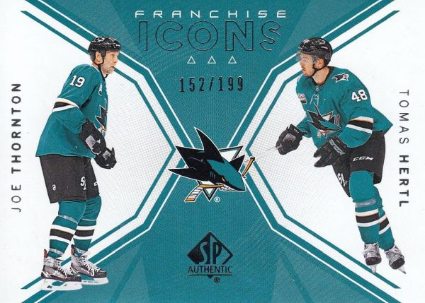 insert karta THORNTON/HERTL 18-19 SP Authentic Franchiese Icons /199