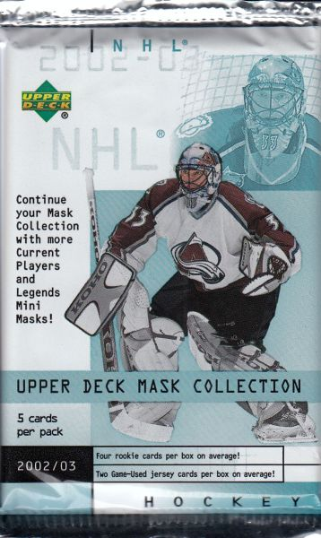 2002-03 UD Mask Collection Hockey HOBBY Balíček