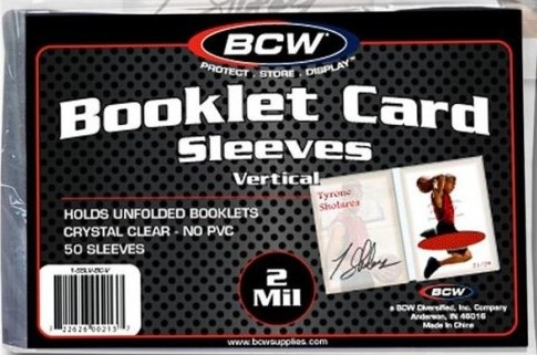 BCW Obaly na karty Vertical Booklet Sleeves, balení (50 ks)