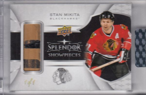 stick karta STAN MIKITA 17-18 Splendor Showpieces Black 1/1