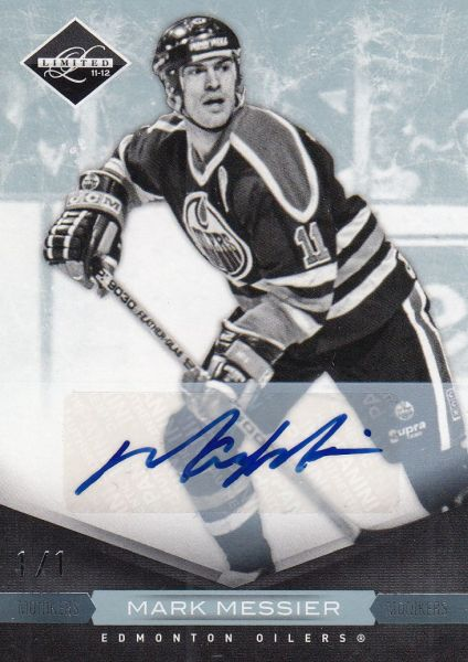 AUTO karta MARK MESSIER 11-12 Limited Monikers Platinum 1/1