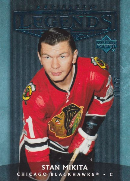 insert karta STAN MIKITA 05-06 Artifacts Legends Blue /75