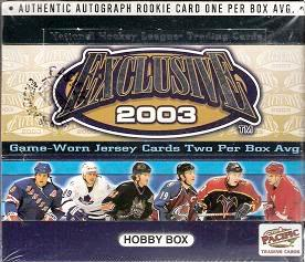 2002-03 Pacific Exclusive HOBBY Box