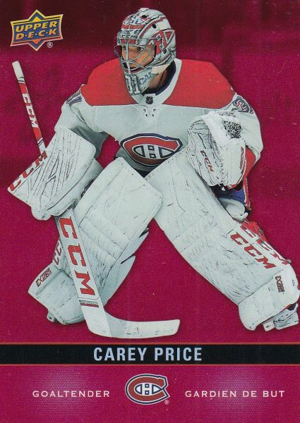 paralel karta CAREY PRICE 19-20 Tim Hortons Red Die-Cut číslo DC-14