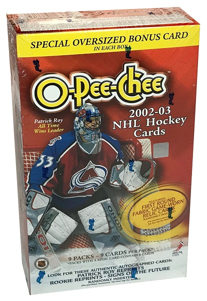 2002-03 O-Pee-Chee Hockey Blaster Box