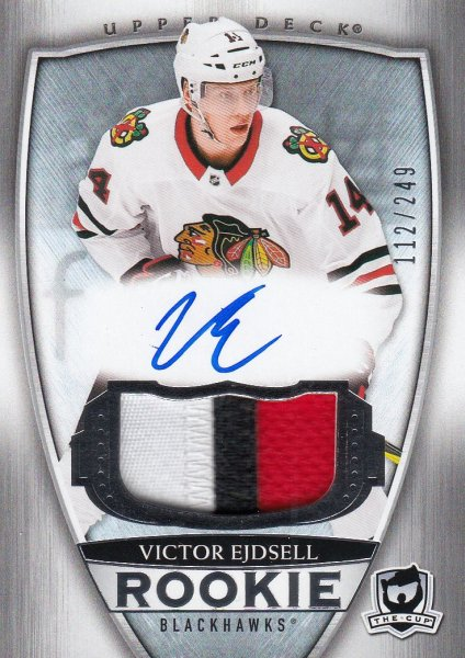 AUTO RC patch karta VICTOR EJDSELL 18-19 UD The CUP Rookie /249