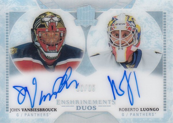 AUTO karta VANBIESBROUCK/LUONGO 17-18 UD The CUP Enshrinements Duos /25