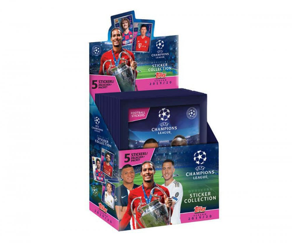 2019-2020 Topps Match Attax Champions League Balíček Samolepek