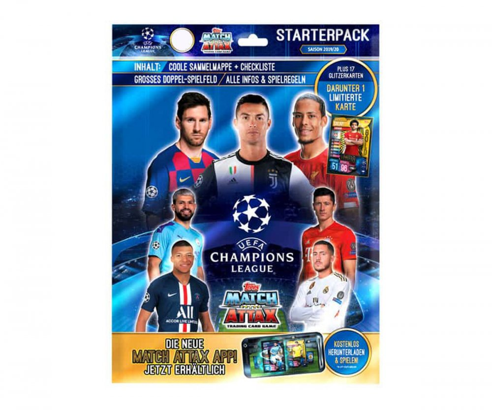 Album 2019-2020 Topps Match Attax Champions League karty - Starterpack