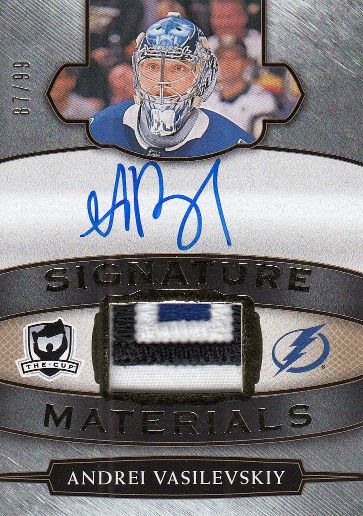 AUTO patch karta ANDREI VASILEVSKIY 18-19 UD The CUP Signature Materials /99
