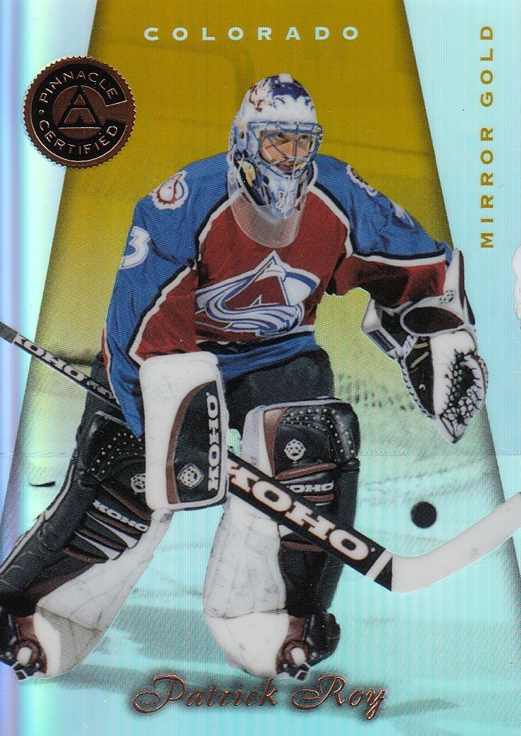paralel karta PATRICK ROY 97-98 Pinnacle Certified Mirror Gold číslo 2