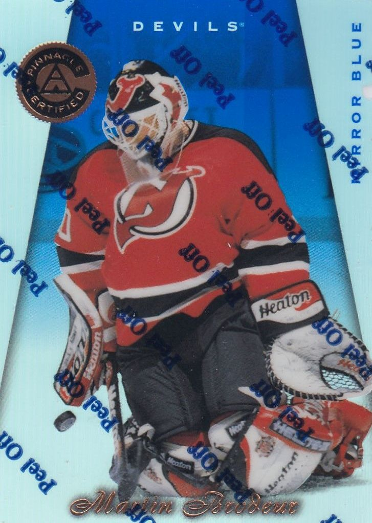 paralel karta MARTIN BRODEUR 97-98 Pinnacle Certified Mirror Blue číslo 3