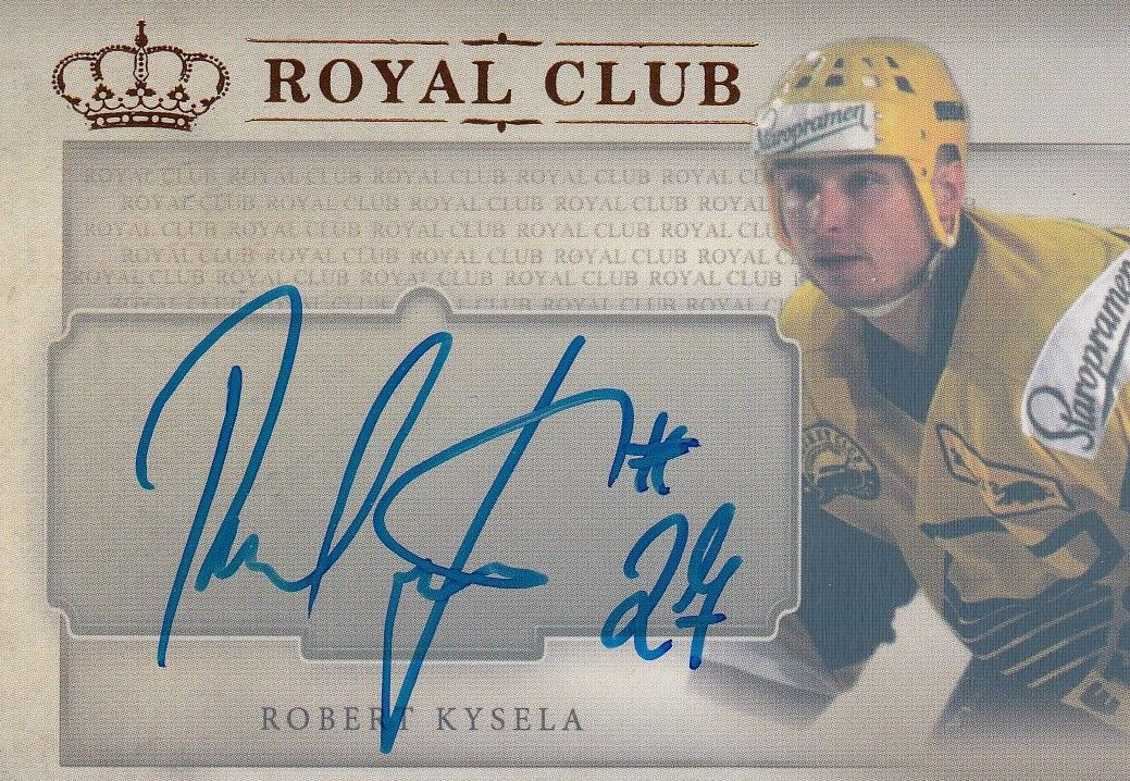 AUTO karta ROBERT KYSELA 16-17 Icebook Royal Club /4