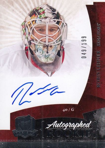 AUTO RC karta ROBIN LEHNER 10-11 UD The CUP Autographed Rookie /199