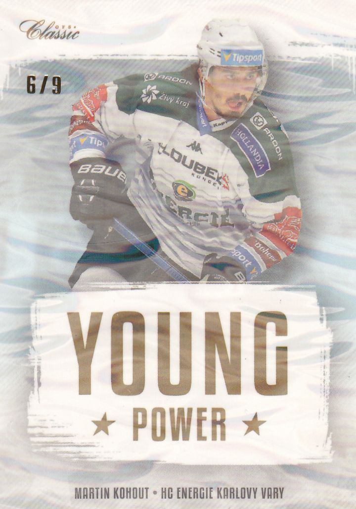 insert RC karta MARTIN KOHOUT 19-20 OFS Classic Ser. 1 Young Power Ice Water /9