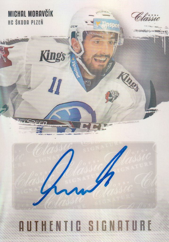 AUTO karta MICHAL MORAVČÍK 19-20 OFS Classic Ser. 1 Authentic Signature /6