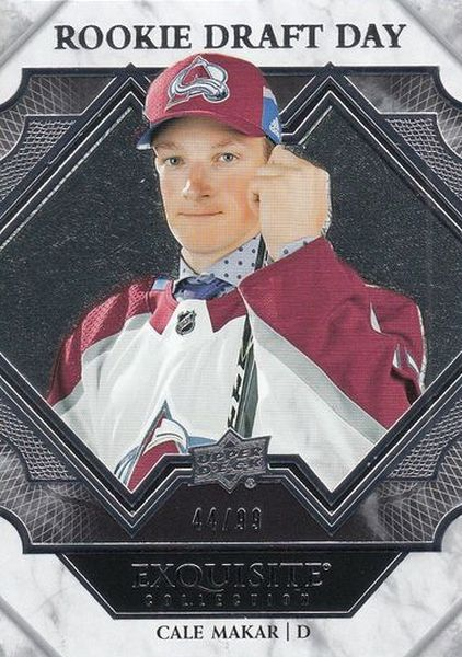 insert RC karta CALE MAKAR 19-20 Exquisite Rookie Draft Day /99