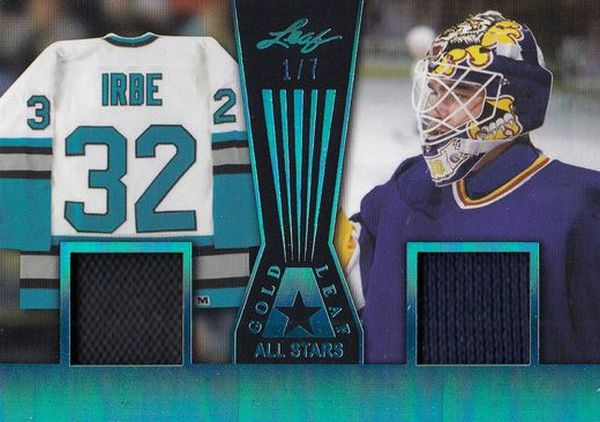 jersey karta ARTURS IRBE 17-18 Leaf Gold All Stars Blue /7