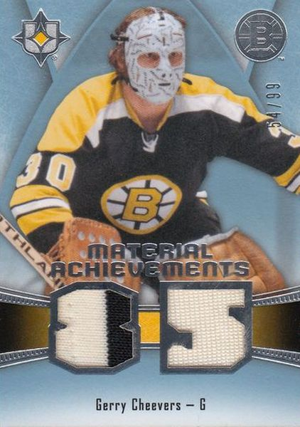 jersey karta GERRY CHEEVERS 15-16 UD Ultimate Material Achievements /99
