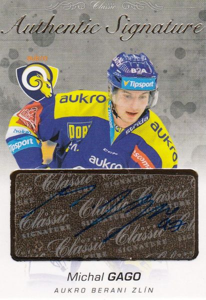 AUTO karta MICHAL GAGO 17-18 OFS Classic Authentic Signature /6