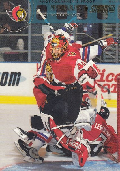 paralel karta PATRICK LALIME 02-03 Topps Stadium Club Photographer´s Proof /250