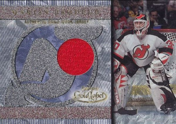 jersey kart-a MARTIN BRODEUR 00-01 Topps Gold Label Authentic Game-Worn Jersey