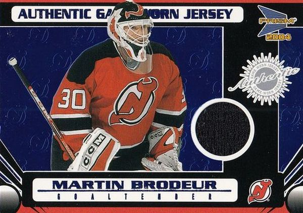 jersey karta MARTIN BRODEUR 03-04 Prism Authentic Game-Worn Jerseys /90