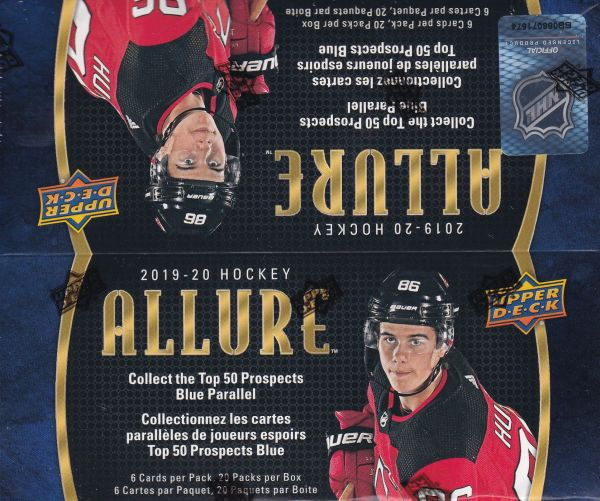 2019-20 UD Allure Hockey Retail Box