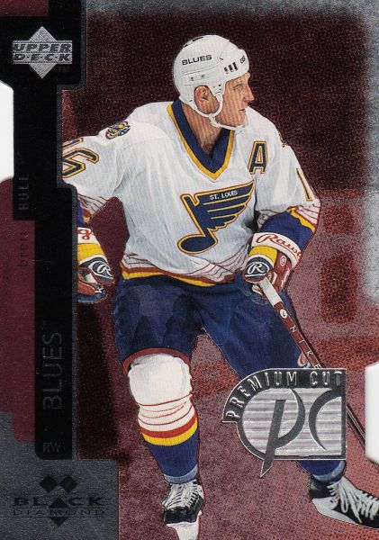 paralel karta BRETT HULL 97-98 Black Diamond Premium Cut Double Diamond
