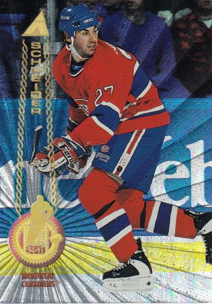paralel karta MATHIEU SCHNEIDER 94-95 Pinnacle Rink Collection číslo 56