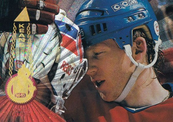 paralel karta MIKE KEANE 94-95 Pinnacle Rink Collection číslo 151