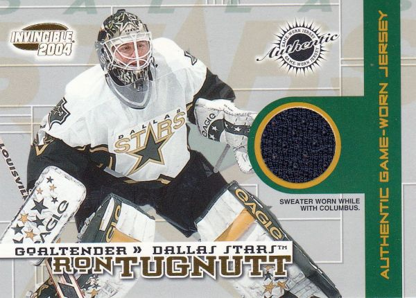 jersey karta RON TUGNUTT 03-04 Invincible Authentic Game-Worn Jerseys /750