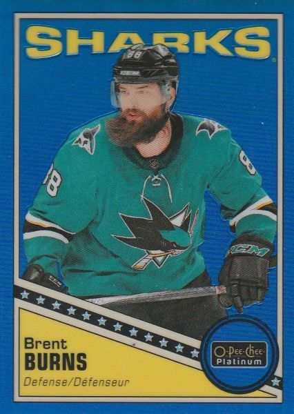 paralel karta BRENT BURNS 19-20 OPC Platinum Retro Blue Rainbow /149