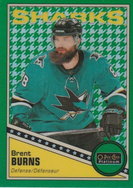 paralel karta BRENT BURNS 19-20 OPC Platinum Retro Green Houndstooth /15
