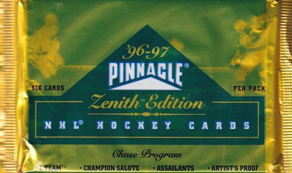 1996-97 Pinnacle Zenith Hockey Hobby Balíček