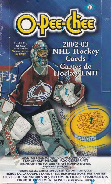 2002-03 O-Pee-Chee Hockey Hobby Box