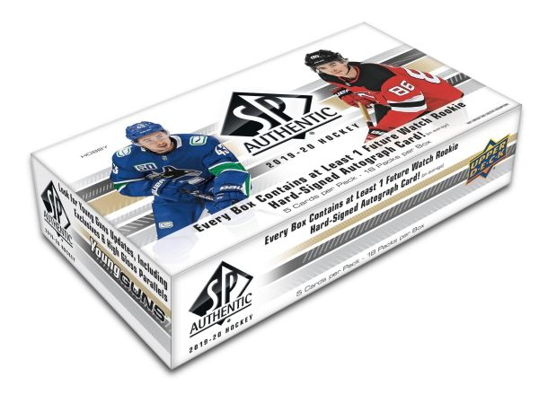 2019-20 UD SP Authentic Hockey Hobby Box