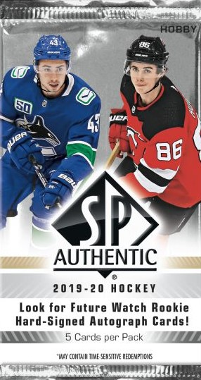 2019-20 UD SP Authentic Hockey Hobby Balíček