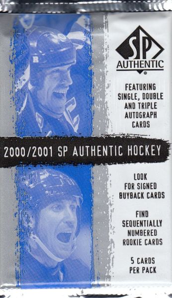 2000-01 UD SP Authentic Hockey Hobby Balíček