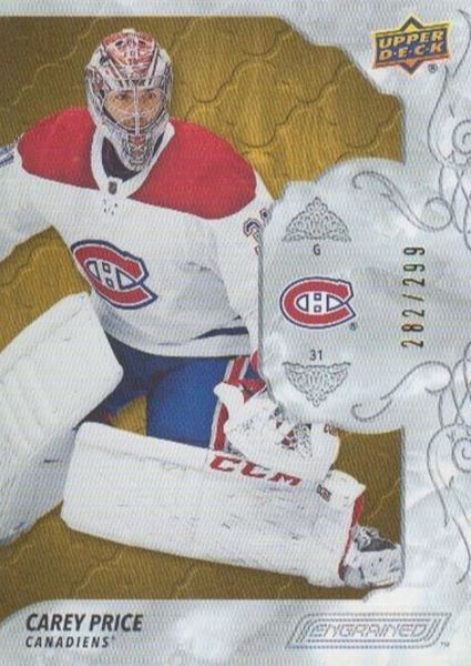 řadová karta CAREY PRICE 19-20 Engrained /299