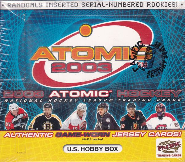 2002-03 Pacific Atomic Hockey HOBBY Box
