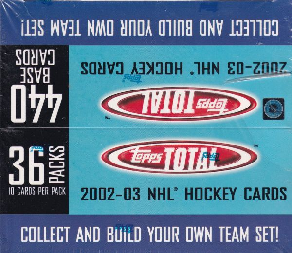 2002-03 Topps Total Hockey Jumbo Box