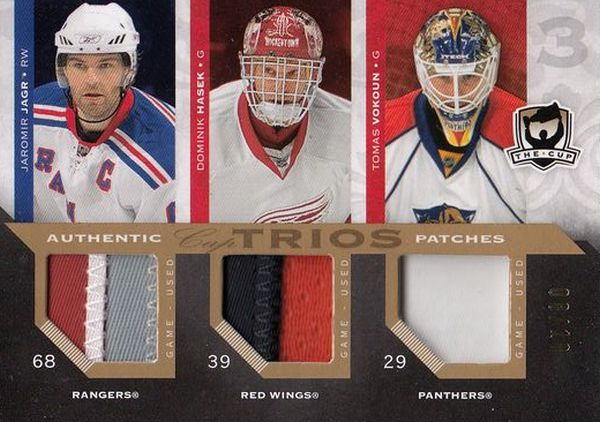 patch karta JÁGR/HAŠEK/VOKOUN 07-08 UD The CUP Trios /10