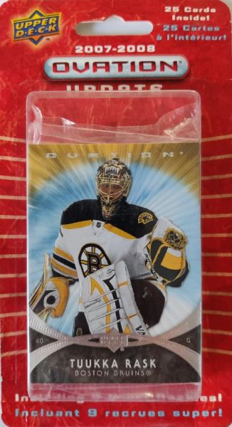 2007-08 UD Ovation Update Hockey Blister