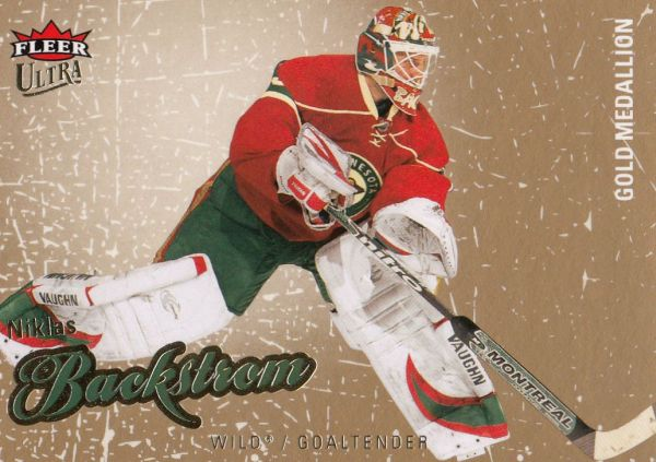 paralel karta NIKLAS BACKSTROM 08-09 Fleer Ultra Gold Medallion číslo 165