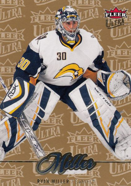 paralel karta RYAN MILLER 07-08 Fleer Ultra Gold Medallion číslo 175