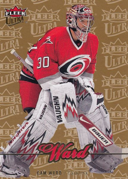 paralel karta CAM WARD 07-08 Fleer Ultra Gold Medallion číslo 160